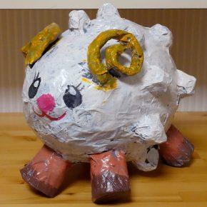 風船張り子・羊(小2)