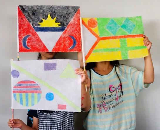 旗のデザイン(土曜クラス・年長、小3)
