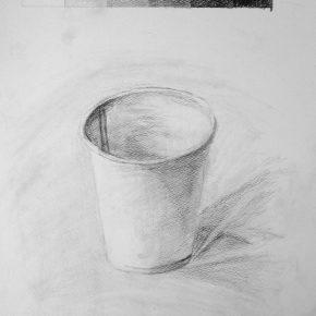 鉛筆デッサン・紙コップ(小5)