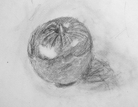 りんごのデッサン(小4)