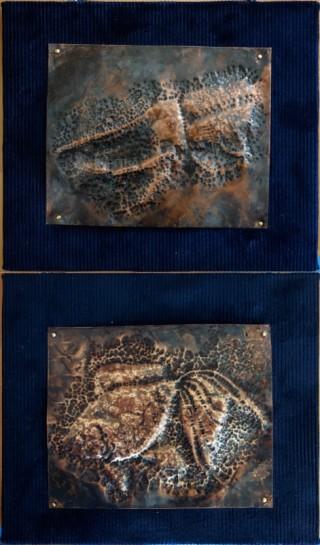 銅板レリーフ(小1、3)