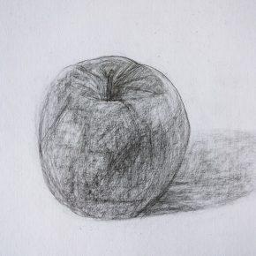鉛筆デッサン・りんご(小3)