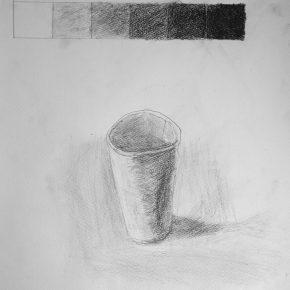 鉛筆デッサン・紙コップ(小2)