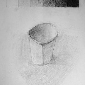 鉛筆デッサン・紙コップ(小4)