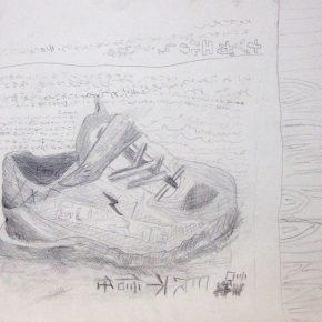 靴のデッサン(小2)