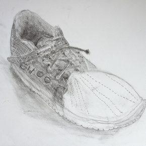 鉛筆デッサン・靴(小5)