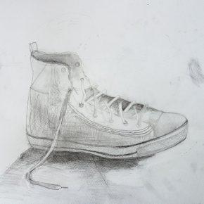 鉛筆デッサン・靴(中1)