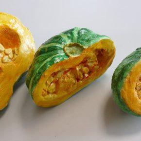 かぼちゃの模刻(日曜午前クラス・小4〜6)