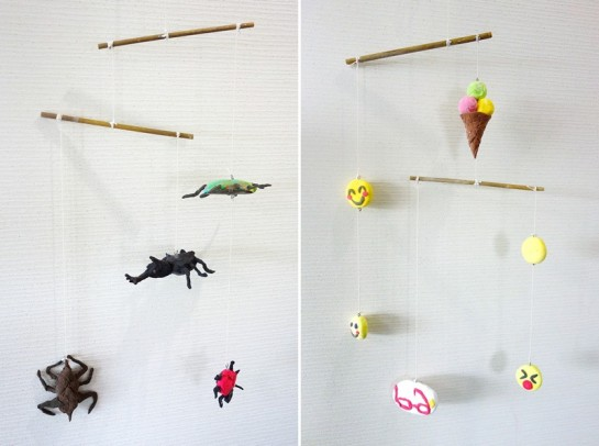 モビール/昆虫(小3)・アイスと笑顔(小5)