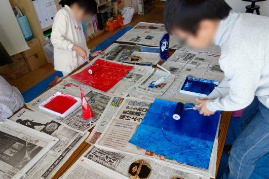 2014年12月7日紙版画カレンダー制作風景