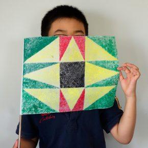 旗のデザイン(土曜クラス・小4)
