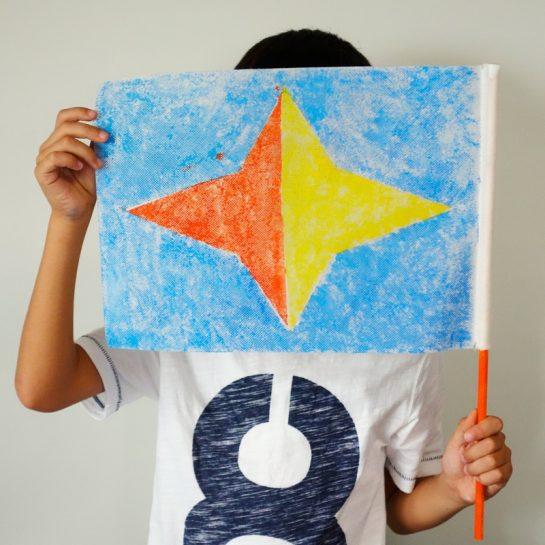 旗のデザイン(小1)