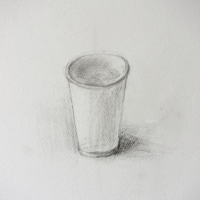 鉛筆デッサン/紙コップ(小4)