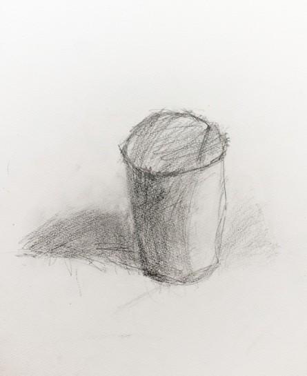 鉛筆デッサン・紙コップ(年長)