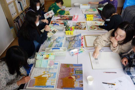 名画の模写(3/26 日曜クラス)