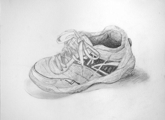 靴のデッサン(小6)