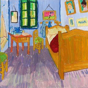 ゴッホ「アルルの寝室」(小3)