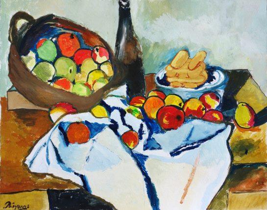 ポール・セザンヌ「りんごの籠のある静物」