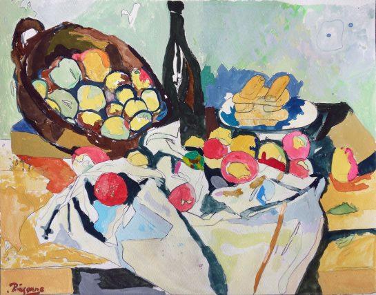 セザンヌ「りんごの籠のある静物」