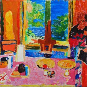 ボナール「庭に面した大きな食堂」(小4)