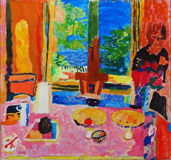 ボナール「庭に面した大きな食堂」