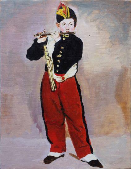 マネ「笛を吹く少年」