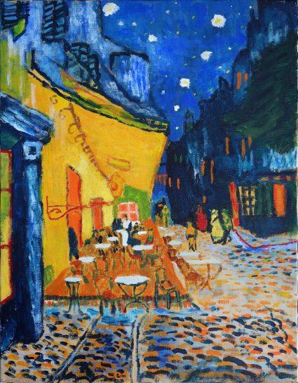 ゴッホ「夜のカフェテラス」