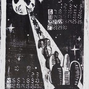 木版画カレンダー(中2)