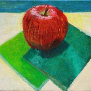 リンゴと折り紙の静物(小4)