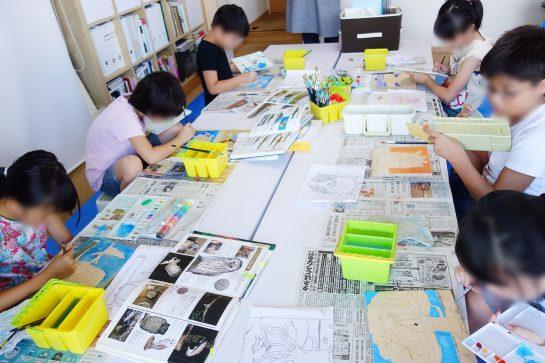 木彫時計制作風景(土曜午後クラス)