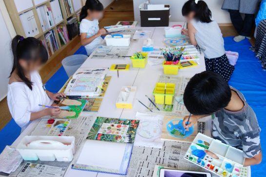 木彫時計制作風景(土曜午前クラス)