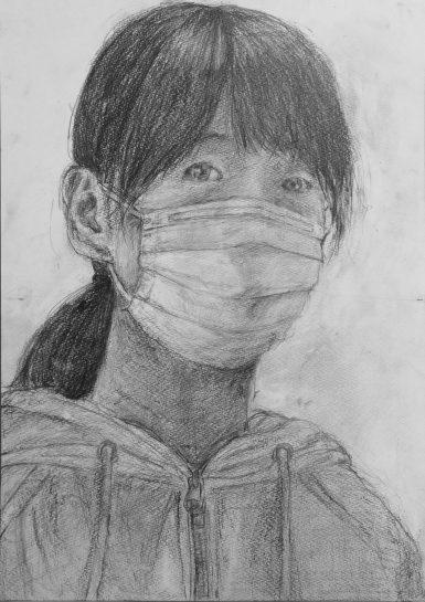 自画像デッサン2021(小5)