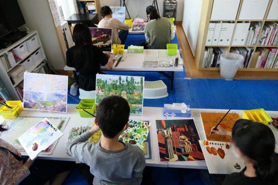 授業風景・名画の模写4(午後クラス)