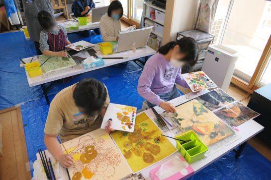 授業風景・名画の模写3(午前クラス)