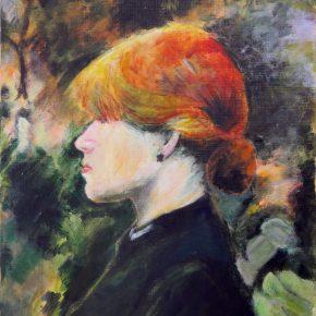 模写・ロートレック「娘の肖像」(小6)